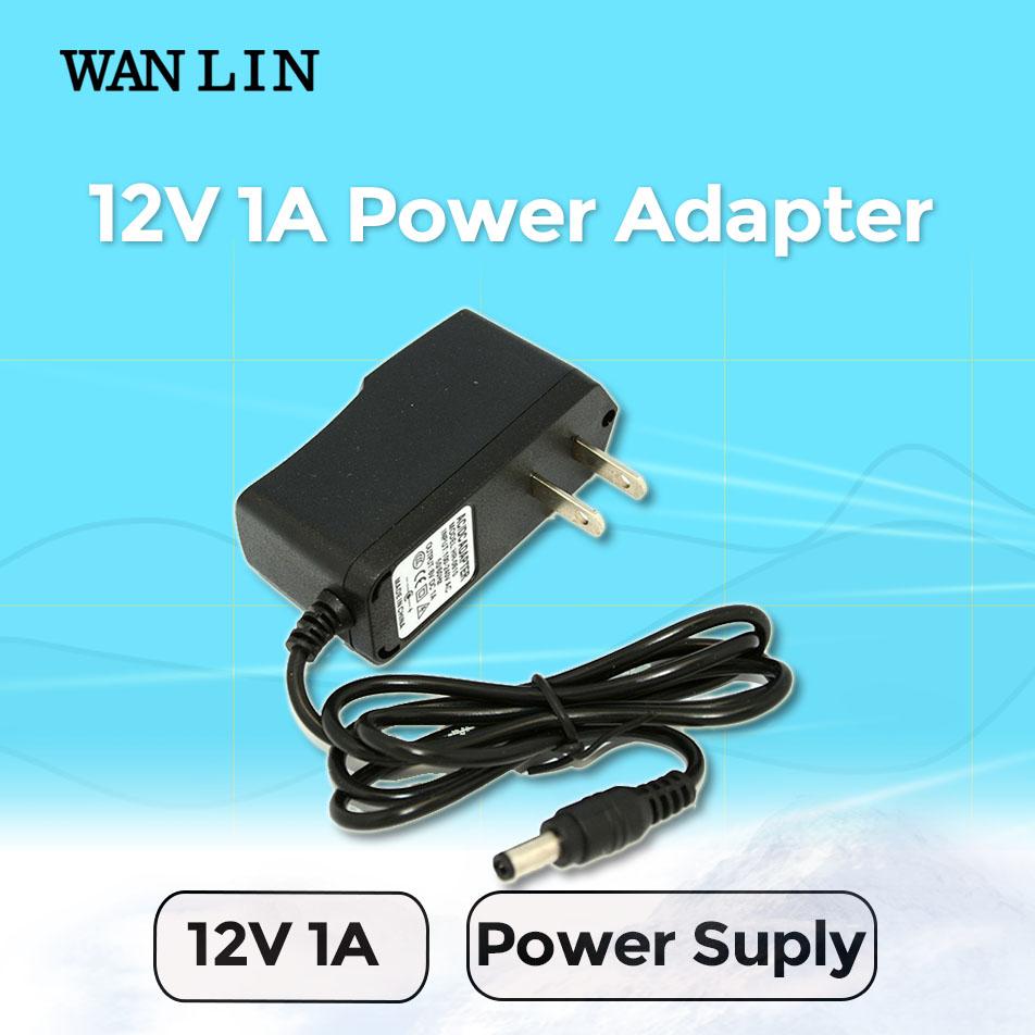 Wanlin UK US EU Type Power Adapter DC 12V 1A CCTV Camera Power Supply Standard Plug Power Adapter AHD Camera(China (Mainland))