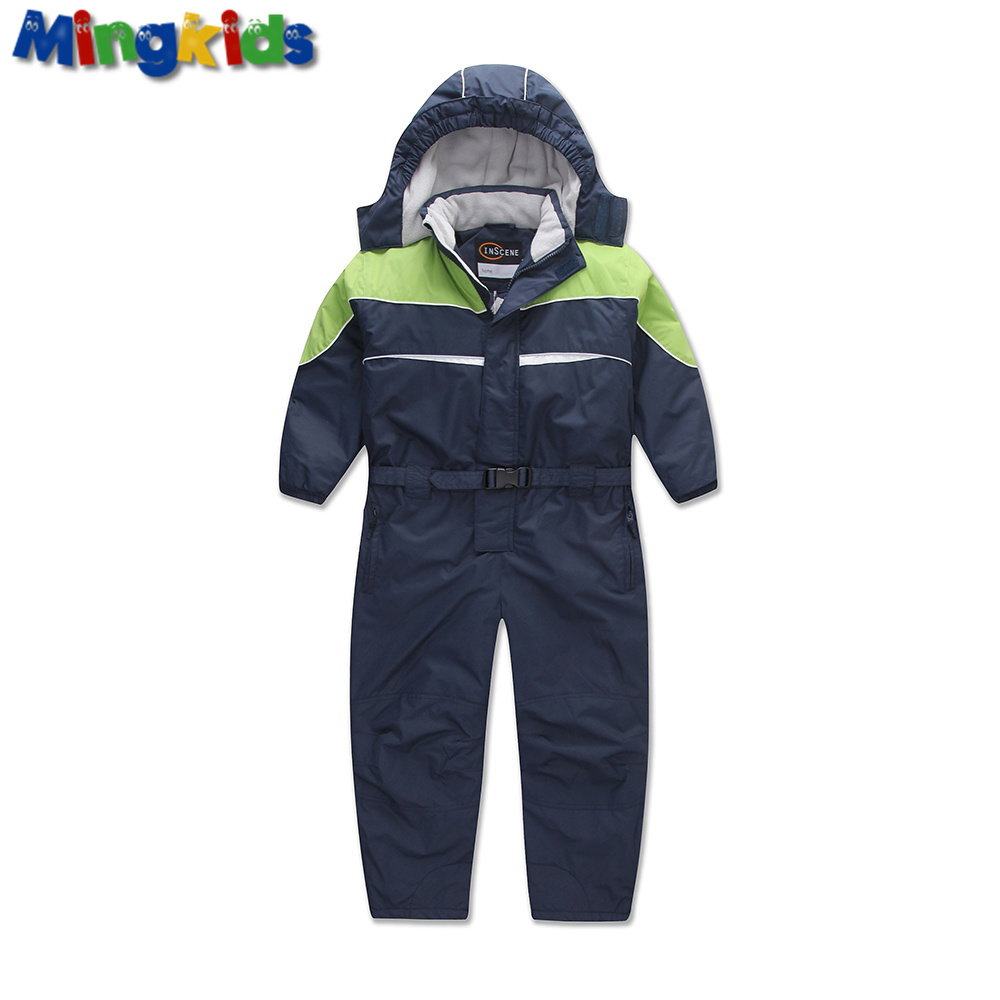 Mingkids boy autumn winter rompers padded winter Ski Jumpsuit Outdoor Warm thicken German Snow Suit windproof  and waterproof