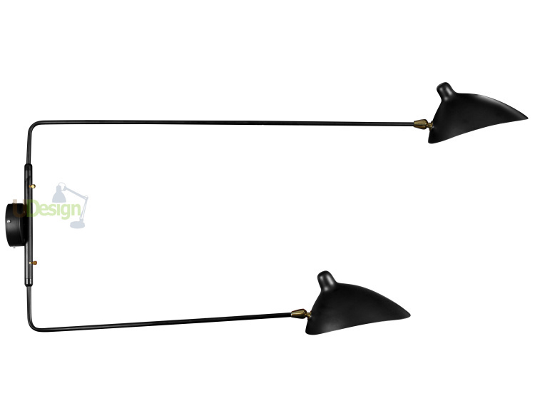 Free shipping wholesale Replica Serge Mouille Rotating Two Arms Wall Lamp 6068L-2B(China (Mainland))