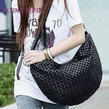FLYING BIRDS 2012 Hot Sale  Wholesale High Quality Popular Weave Shoulder Bags Newest Shu Nvbao WD09