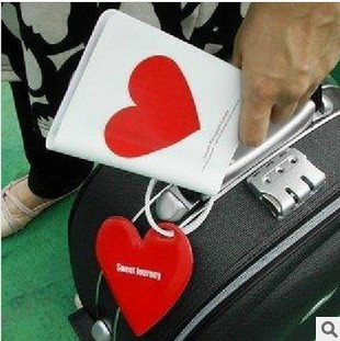 Passport Holder + luggage tag + silicone strap (love, clouds) 1pc(China (Mainland))