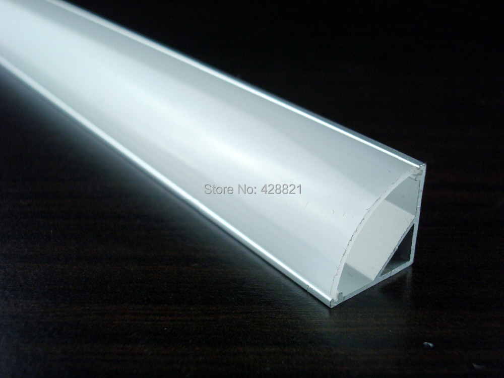 100m/Lot 1616 corner aluminum profile fitted with FROSTED/MILKY/TRANSPARENT cover for 8-10mm led strips stores shelf led lights(China (Mainland))