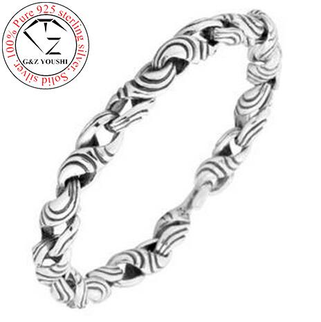 S925 thai silver bracelets G&amp;Z 8mm big link chain 100% pure 925 sterling silver bracelet men jewelry NCB040<br><br>Aliexpress