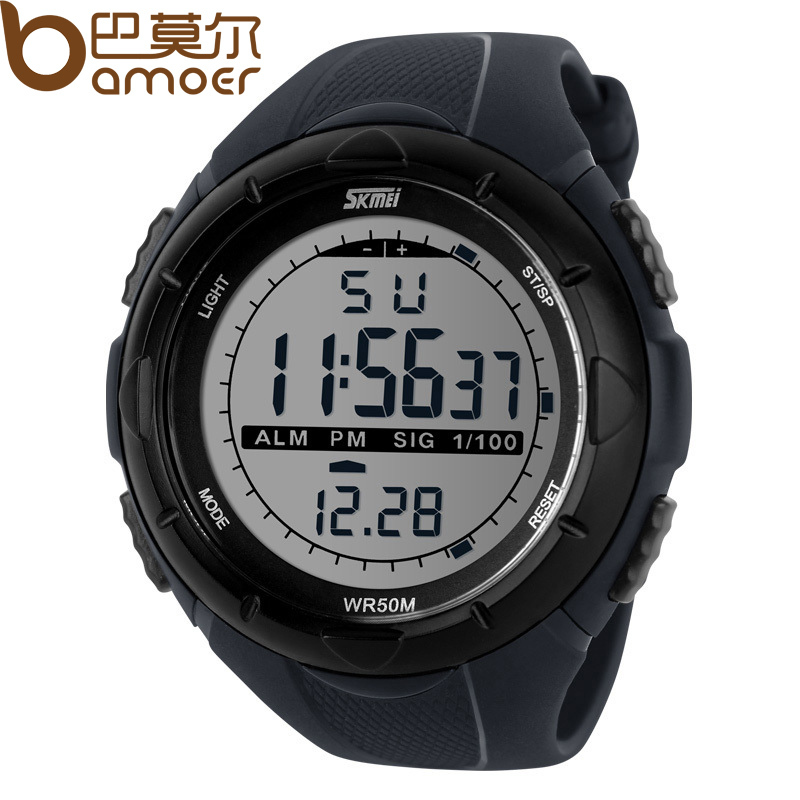 SKMEI Luxury Brand Watches Men Week and Date Display Sports Wristwatch for Exercise Water Proof WA3024