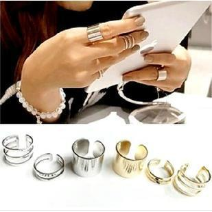 Korea imported jewelry 1 set=3pcs all- star models copper material Master's Sun Rings fashion ring(China (Mainland))