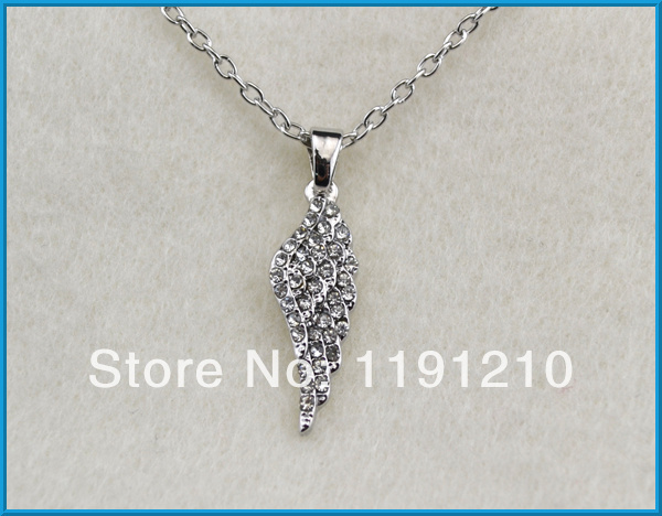 fashion design lovely angel wing pendant chain necklace(China (Mainland))