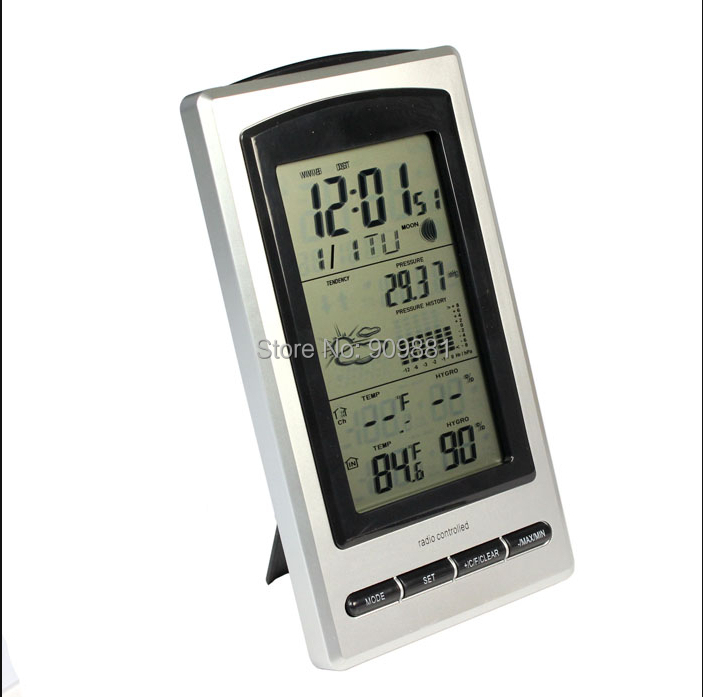 """4.9"""" LCD Digital Thermometer Wireless Weather Forecast Station Outdoor Temperature Humidity Sensor 10pcs/lot 100% Brand New(China (Mainland))"""