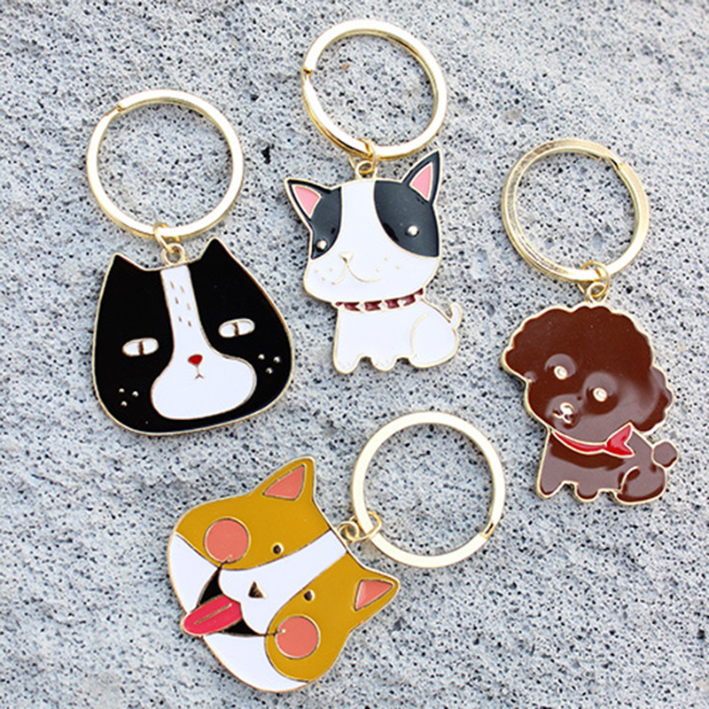2017 Hot Sale PET dogs Key chain DIY Pendants Pet Keychains Store Supplies Wholesale Gifts Key Ring Women Keychain Car(China (Mainland))