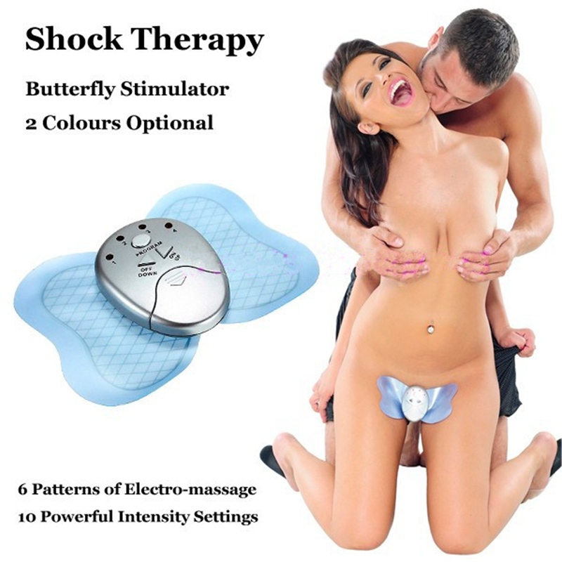 Butterfly Sex Toys for Woman Electric Vibrators Therapy Electro Shock Massage for Body Slimming Electric Vibrating Health Care(China (Mainland))