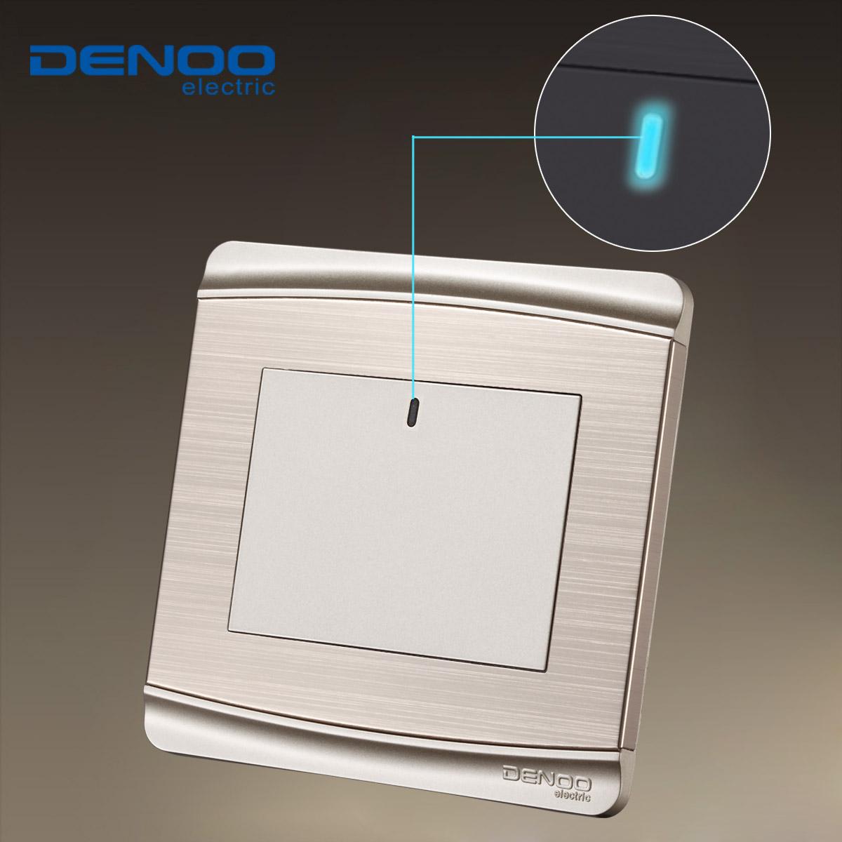 Wall Light Switches Us : Free Shipping,DENOO luxury wall switch panel, LED panel, Light switch, Tap switch,110~250V,1 ...
