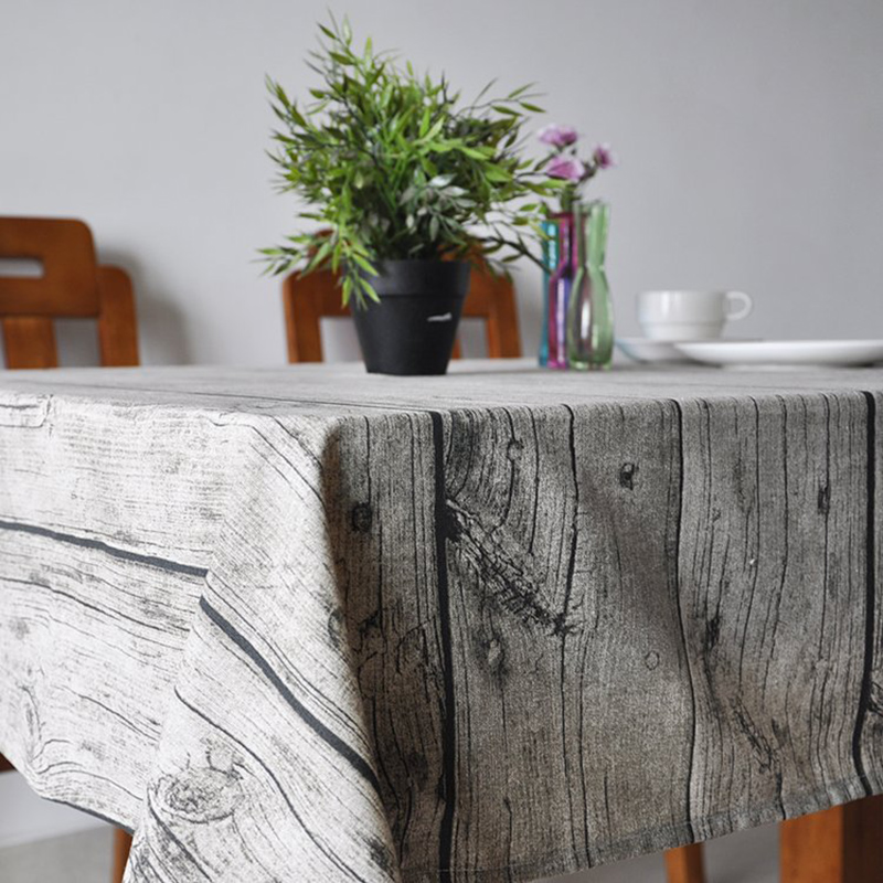 USPIRIT Wooden Stripe Printed Table Covers Pastoral Tablecloth Vintage Home Decoration Party-Table-Linen Obrusy na HH2206(China (Mainland))