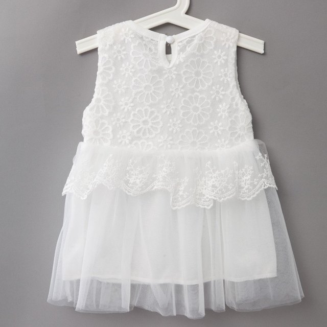 Cute Infant Baby Girls Outfits Kids Children Lace Voile Wedding Party Dresses Little Girl Clothes