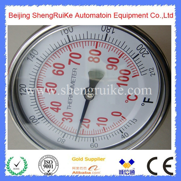 3 inch dial Back Connection  SS304 Case 0 to 100C  bimetal thermometer<br><br>Aliexpress