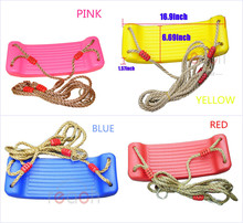 New Home&Garden Decorcate Gym Hobbies Plastic Swing Rope Seat For Kid Child Gift(China (Mainland))