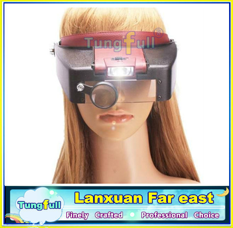Гаджет  New 10X lighted magnifying glass headset head magnifier None Инструменты