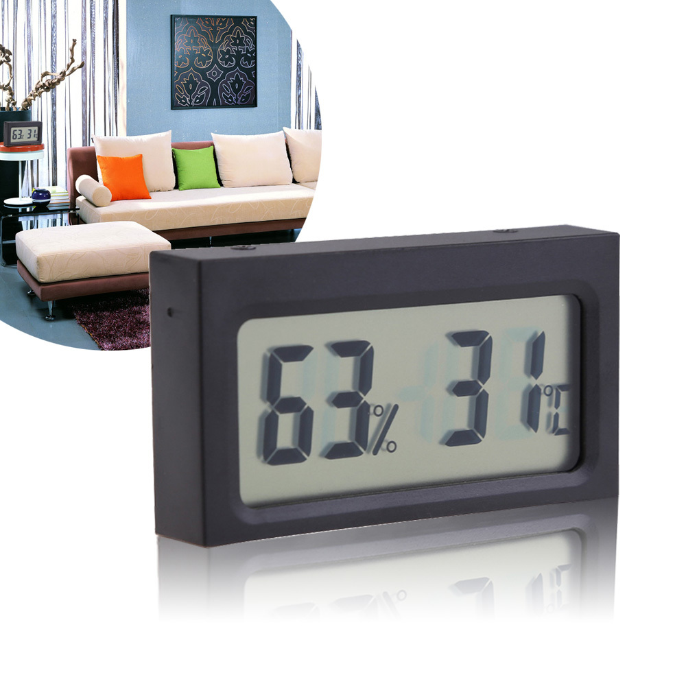 Гаджет  High Quality Digital LCD Indoor Humidity Temperature Meter Thermometer Hygrometer NG4S None Инструменты