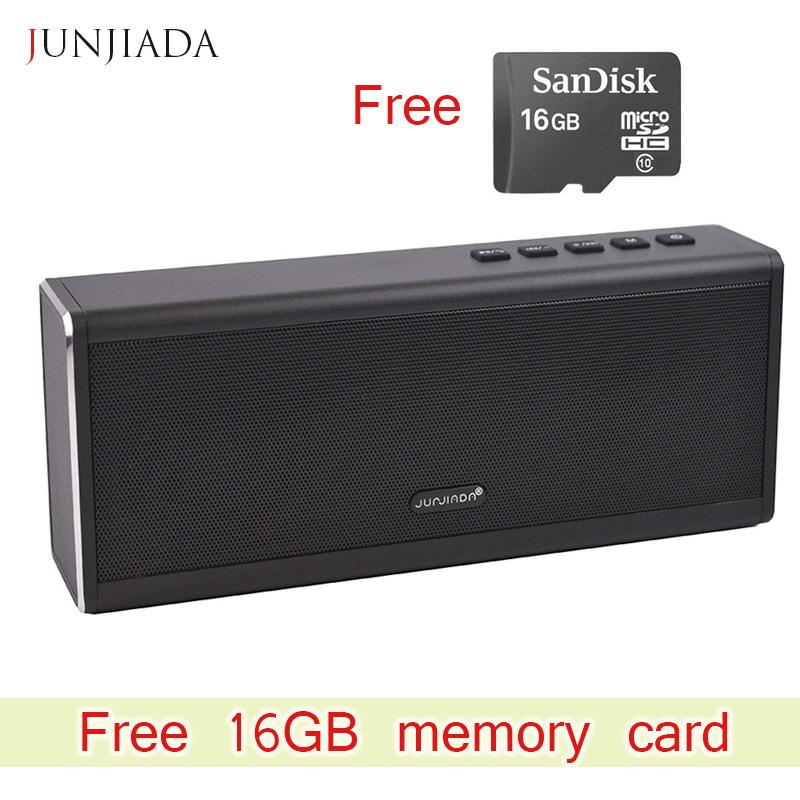 JUNJIADA 20W Bluetooth Speaker 4400 mAH Power Bank Powerful Super Bass Portable Wireless Speaker Loudspeaker Free 16GB card(China (Mainland))