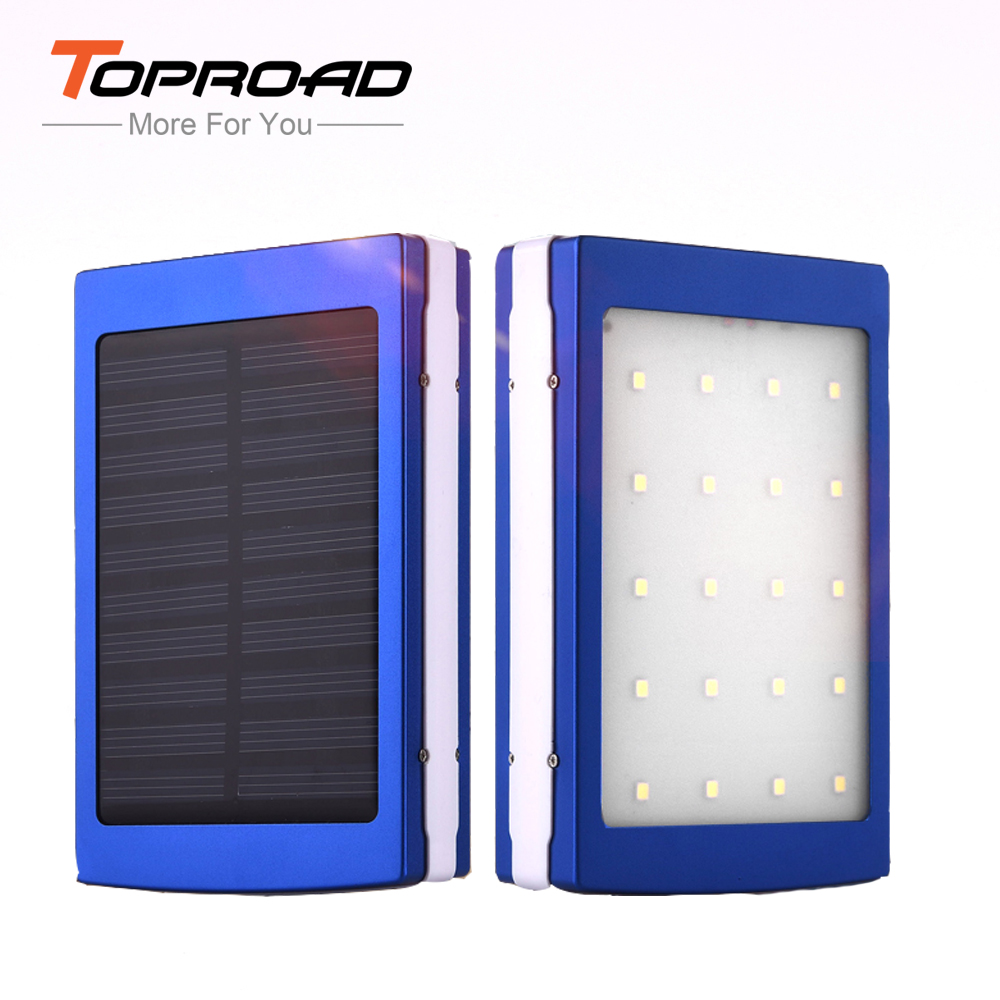 External Battery Pack 8000mAh Solar Charger Power Bank Box LED Camping Light Powerbank Case Cargador Solar Power Battery Charger(China (Mainland))