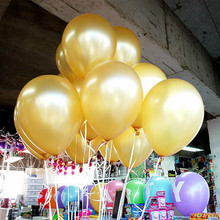 10pcs/lot 1.5g Gold Latex Balloon Air Balls Inflatable Wedding Party Decoration Birthday Kid Party Float Balloons Kids Toys