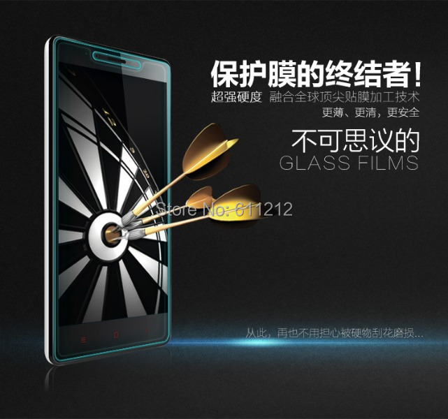 Ultra Thin Tempered Glass Screen Protector Anti-explosion xiaomi 3 mi M3 4 M4 hongmi redmi note - Shenzhen Strong Trade Company store