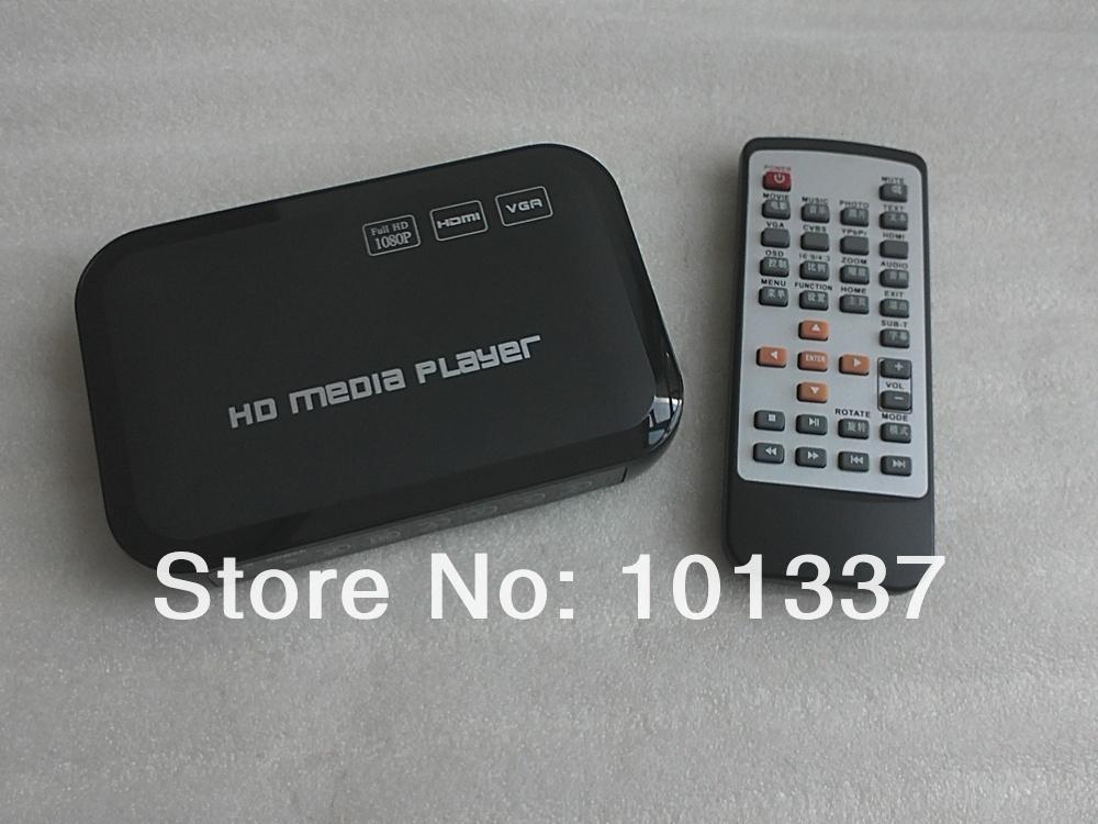 HD TV Digital Mini Media Player HDMI 1080p Play any file from USB HDDs/Flashdrives/Memory Cards HDMI/VGA/AV output(Hong Kong)