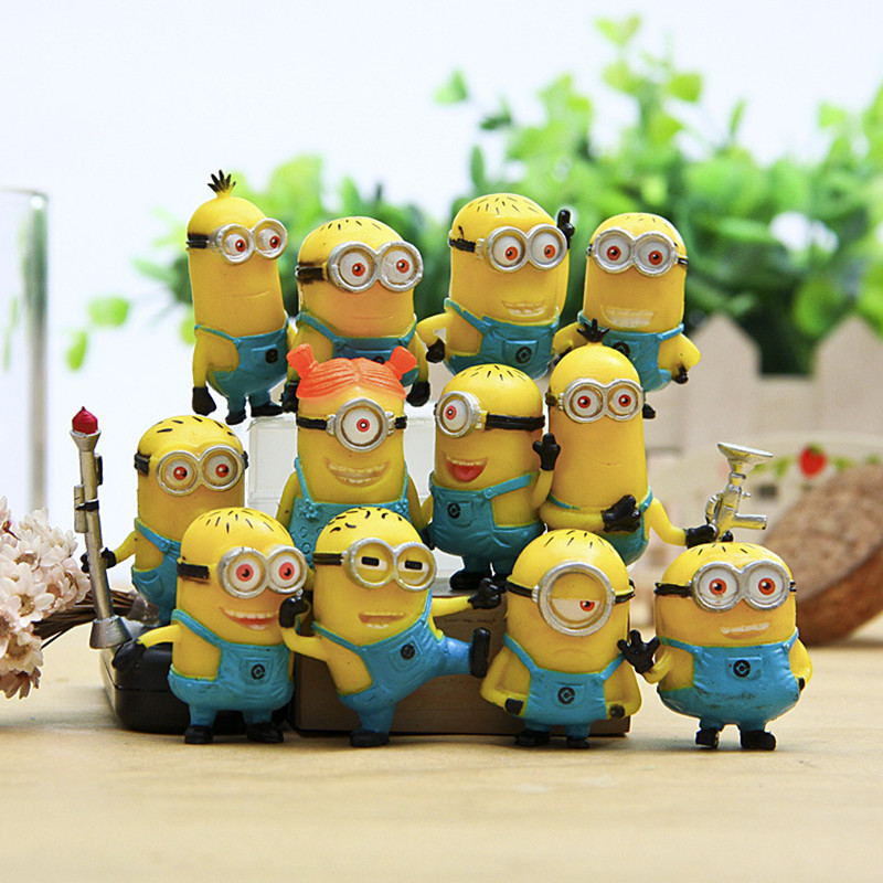 12-PCS-Set-PVC-Minion-in-Action-Figures-Despicable-Me-2-Minions-Toy-Retail-Brinquedos-96408