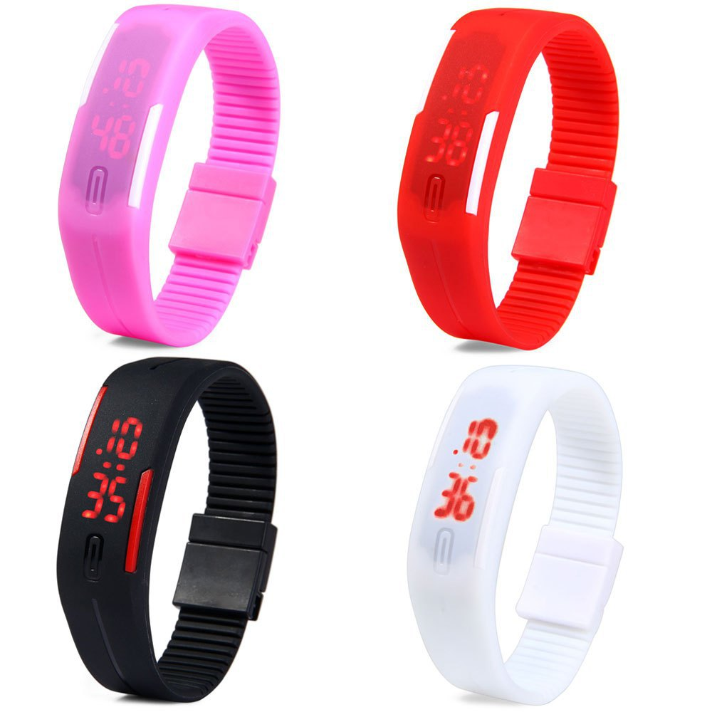 New Arrival Fashion Sport LED Watches Candy Color Silicone Rubber Touch Screen Digital Watches, Bracelet Wristwatch(China (Mainland))
