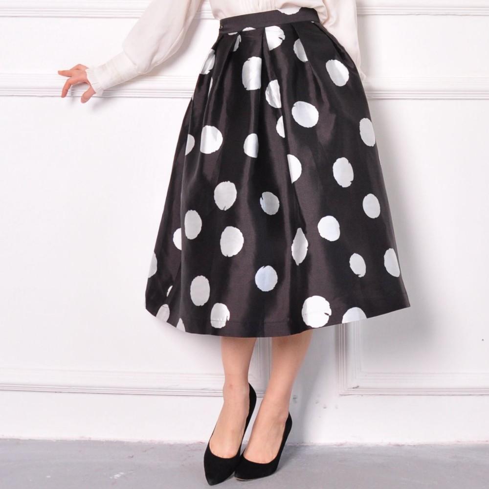 2015 plus size xxs 6xl vintage polka dot print