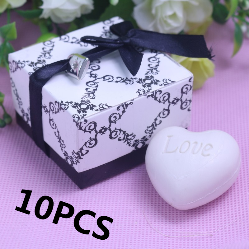 10Pcs Personalised Bulk Lock Heart Scented Soap For Guest Boy Gril Baby Shower Wedding Bridal Home Party Favors and Gifts(China (Mainland))