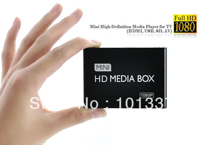 3D Full Hd 1080P Media Player USB/SD RMVB RM H.264 MKV AVI VOB with AV,HDMI port Mini Hdd player+Free Hdmi cable+free shipping(Hong Kong)