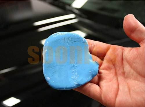 Мини ручной синий практическая магия поверхность автомобиля чистый клей бар авто детализация корзины очиститель
