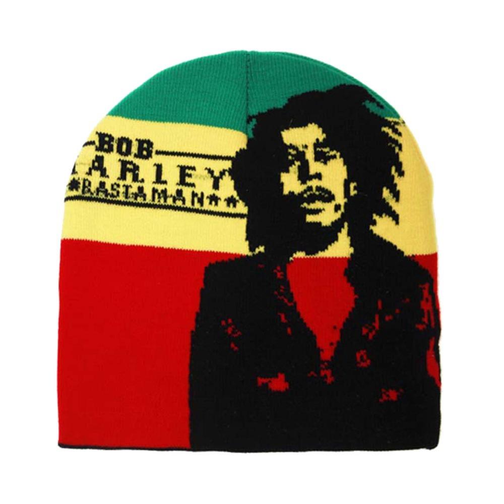 Winter Jamaica Knitted Reggae Rasta Bob Marley Style Beanies Hat Skullies Gorro Cap BLACK RED YELLOW GREEN(China (Mainland))