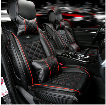 Good+Free shipping! Special seat covers for Toyota Camry 2015 fashion carbon fiber leather seat cover for Camry 2014-2008(China (Mainland))