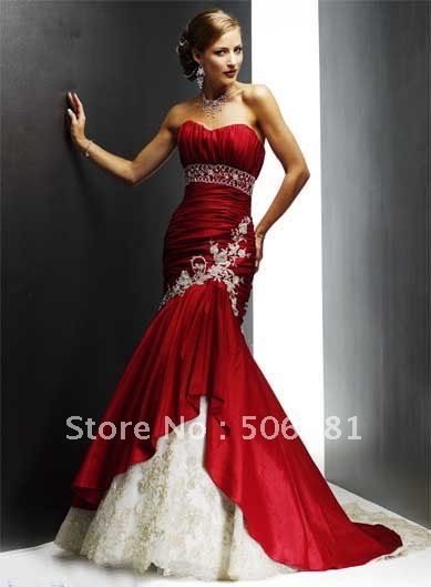2012 New Hot Style prom dresses Bride Evening Dresses vogue Mermaid strapless lace evening gown party - Cinderellawedding store