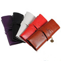 Brand New Fashion Designer Vintage Retro Roll PU Leather Makeup Brushes Kit Pens Pencil Case Make