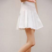 Buy Women Girls Sexy High Waist Plain Skater Flared Empire Pleated Short Ladies Mini Skirt Shorts for $7.33 in AliExpress store