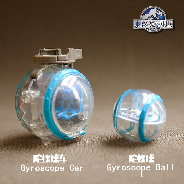 1pcs World Jurassic Park Gyroscope Car Gyroscope Ball 2Styles Movie Toy Figure Doll Retail Kids Gift 5.5-9CM Send Random Soldier(China (Mainland))