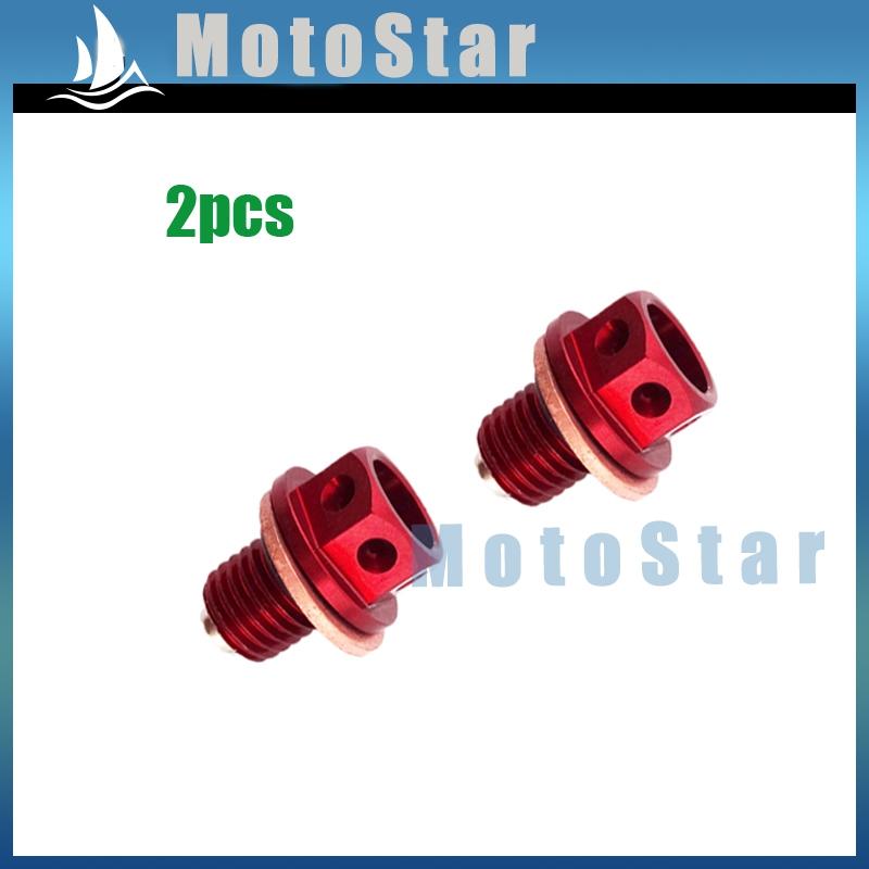 2x Oil Magnetic Drain Bolt Plug For Chinese Engine Lifan YX Zongshen Loncin Pit Dirt Bike 50cc 90 110 125 140 150 160 cc(China (Mainland))