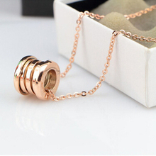 Stylish Fashion Compression Stainless Steel Elastic Multiwall Pendants Necklaces, aneis femininos letters anillos bulgary womens(China (Mainland))