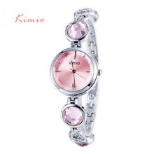 2015 Luxury High Quality Brand KIMIO Quartz Bracelet Watches Women Stainless Steel Watch Woman Dresses Wristwatches