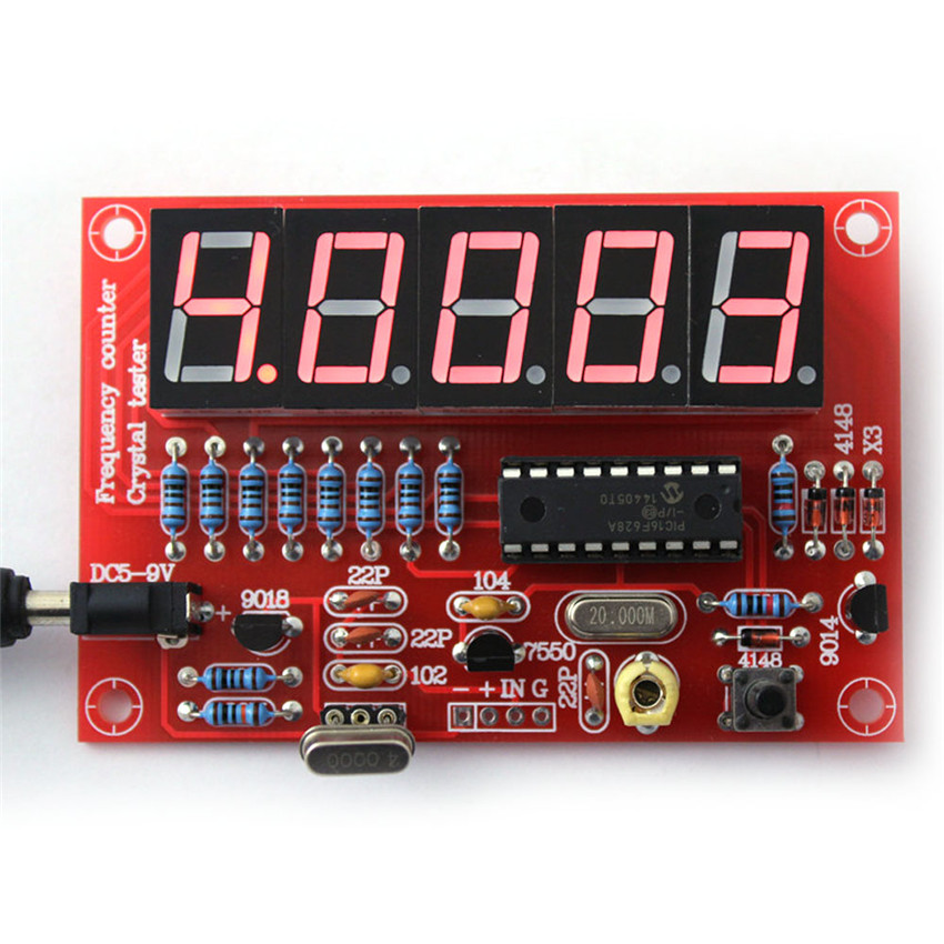 DIY electronice suite 1Hz-50MHzVibration frequency meter crystal frequency measurement five digital tube display DIY kits(China (Mainland))