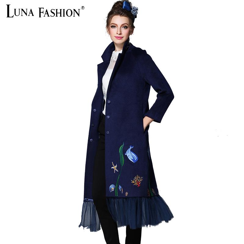 5XL 4XL 3XL 2XL plus size coats 2015 winter overcoat women embroidery long sleeve trench coat for women wool coat elegantОдежда и ак�е��уары<br><br><br>Aliexpress