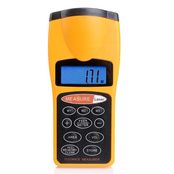 Portable LCD Backlight 18m Ultrasonic Distance Meter Laser Pointer rangefinder measuring instrument Construction Building - Shenzhen Hiteam CO.,LTD store