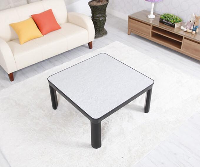 Kotatsu Furniture Table 75cm Reversible Top White/black Folding Legs Japanese Low Small Modern Heated Foot Warmer Table Kotatsu(China (Mainland))