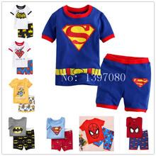 summer new cotton boys short sleeve sets kids  pajamas pijama infantil for boys children's pyjamas clothing(China (Mainland))
