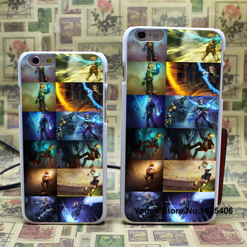 All Ezreal`s current skins Design hard White Skin Cover Back Case for iPhone 6 6s 6plus(China (Mainland))