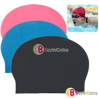 Fashion Durable Sporty Rubber Swim Cap Swimming Hat[3998 99 01]