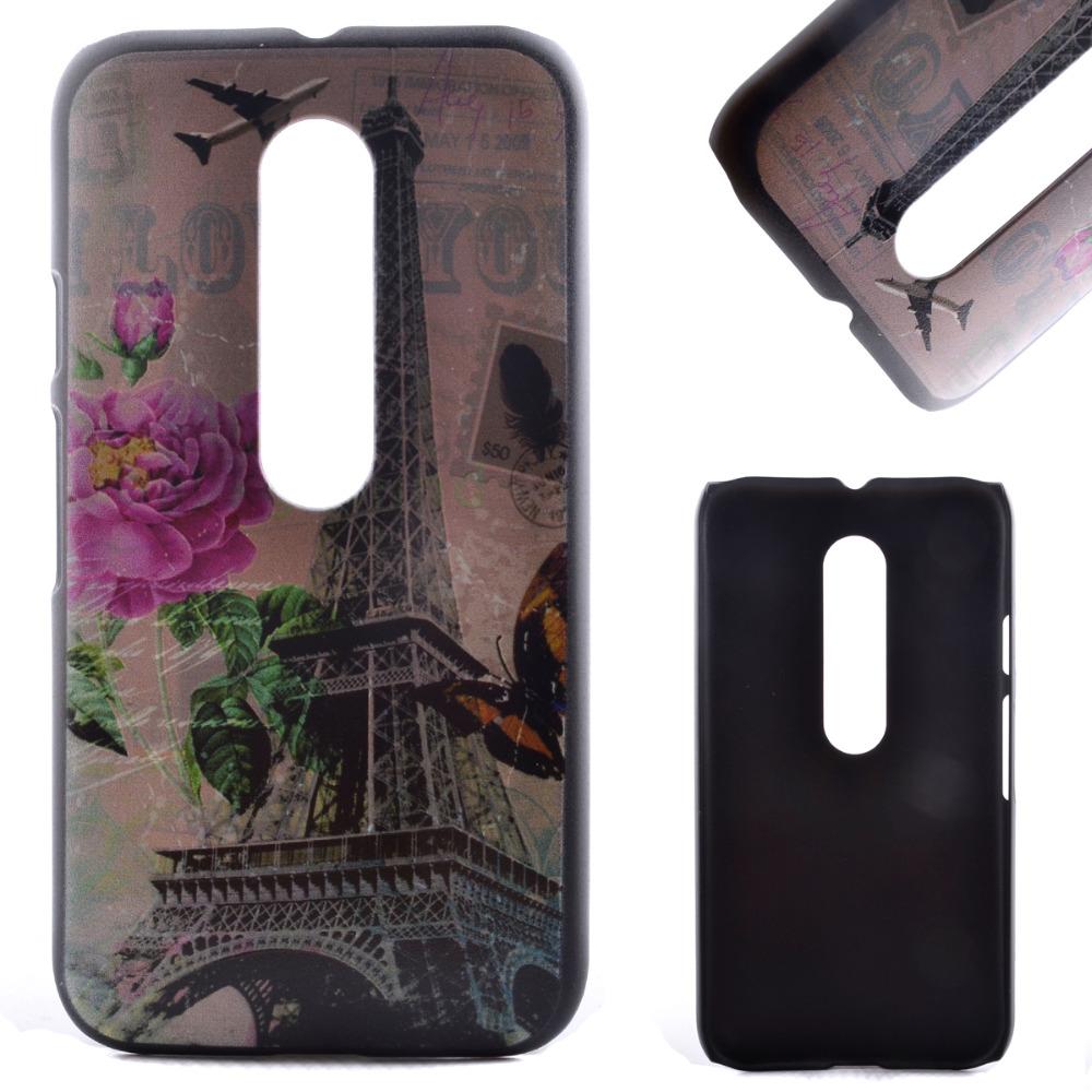 Fashion Painting Phone Case For Motorola Moto G3 Gen G3 LTE XT1064 Cartoon Pattern Hard Plastic