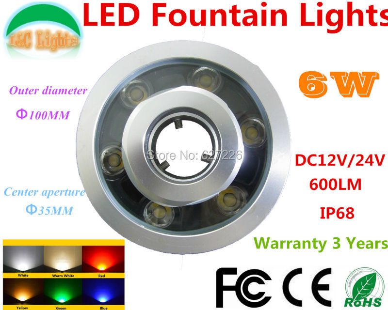Factory Wholesale Single Color LED Underwater Light 12V IP68 Waterproof LED Fountains Lamp LED Swimming Pool Lights 4 PCs/Lot(China (Mainland))