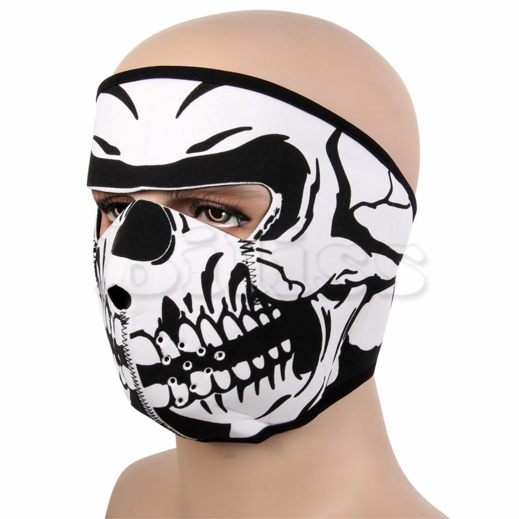 New SEAL Cosplay Bike Skull White Black Halloween CS Cycling Motorcycle Paintball Winter Headwear Bandanas(China (Mainland))